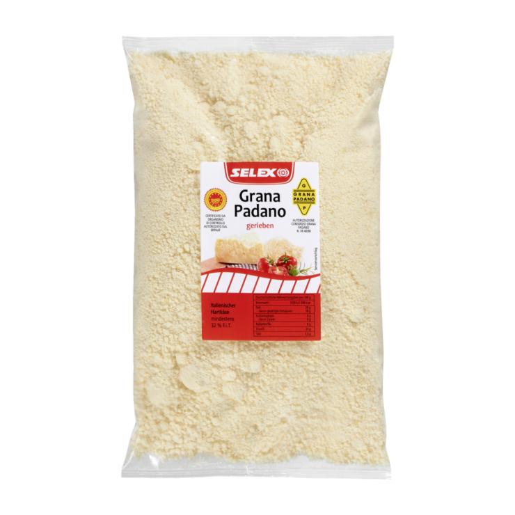 Grana Padano Italienischer Hartkäse gerieben 32%, 1000 g