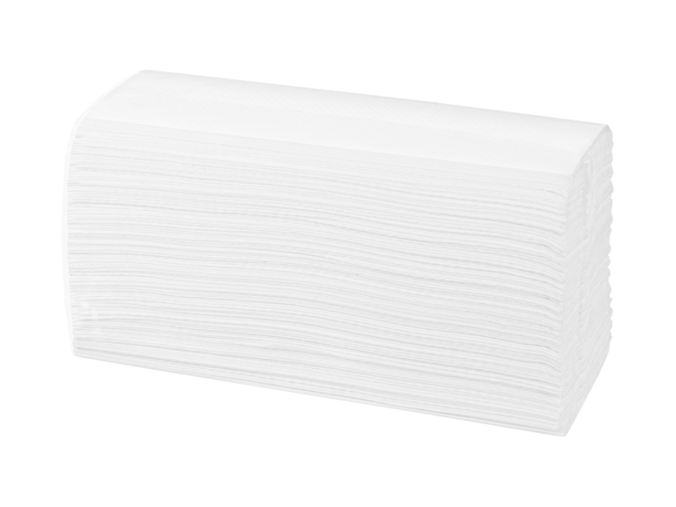 SELEX Papierhandtuch C-Falz, 2-lagig, Zellstoff-hochweiß, Blatt 23 x 31 cm