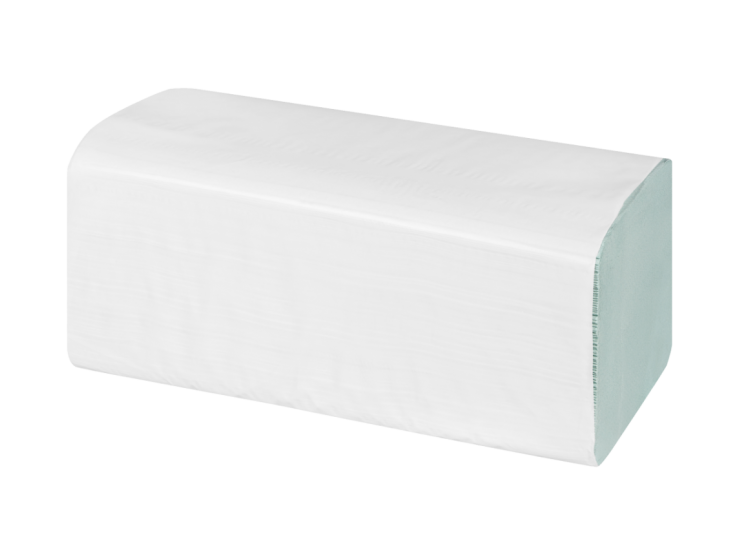 SELEX Papierhandtuch V-Falz, 2-lagig grün, Recycling, Zellstoff, Blatt 24 x 22 cm