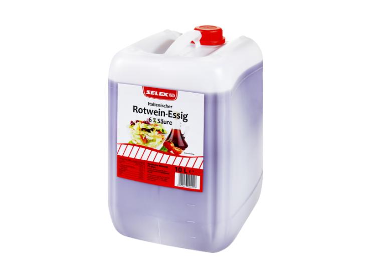 SELEX Italienischer Rotwein-Essig 6% Säure 10 L