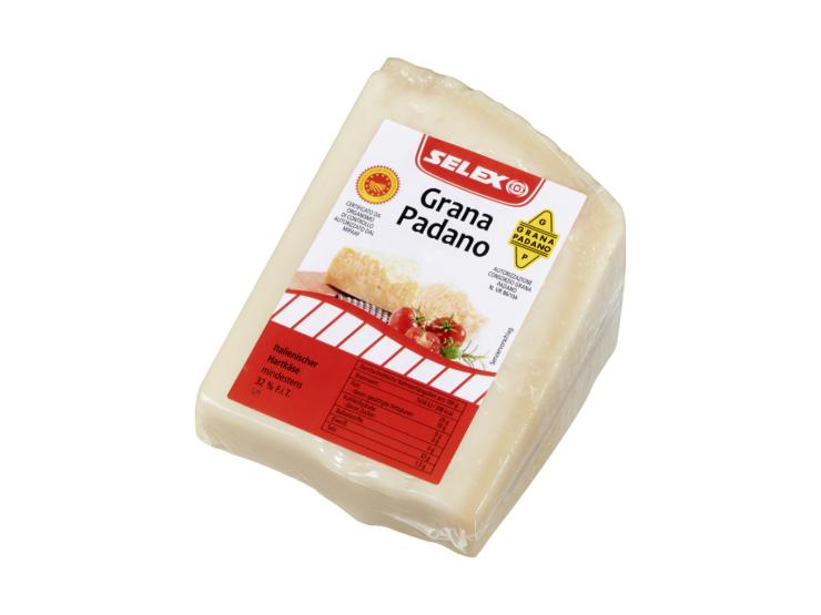 Grana Padano Italienischer Hartkäse 32% Fett. i. Tr. ca. 1 kg Keil